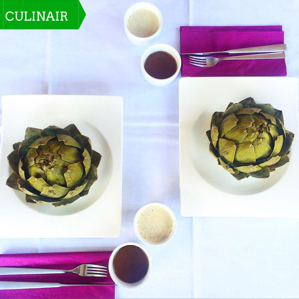 artisjok met ansjovis-kappertjes aïoli en balsamicovinaigrette