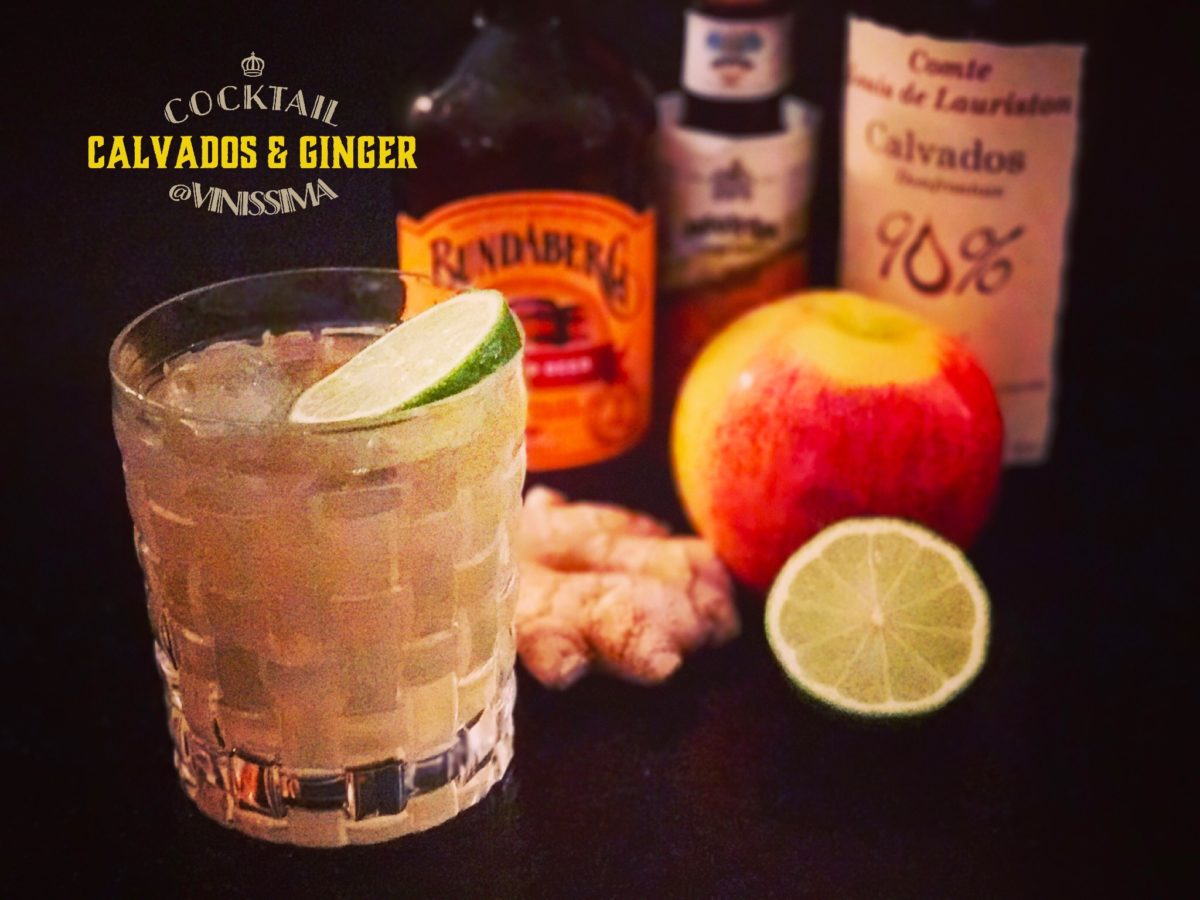 cocktail calvados & ginger