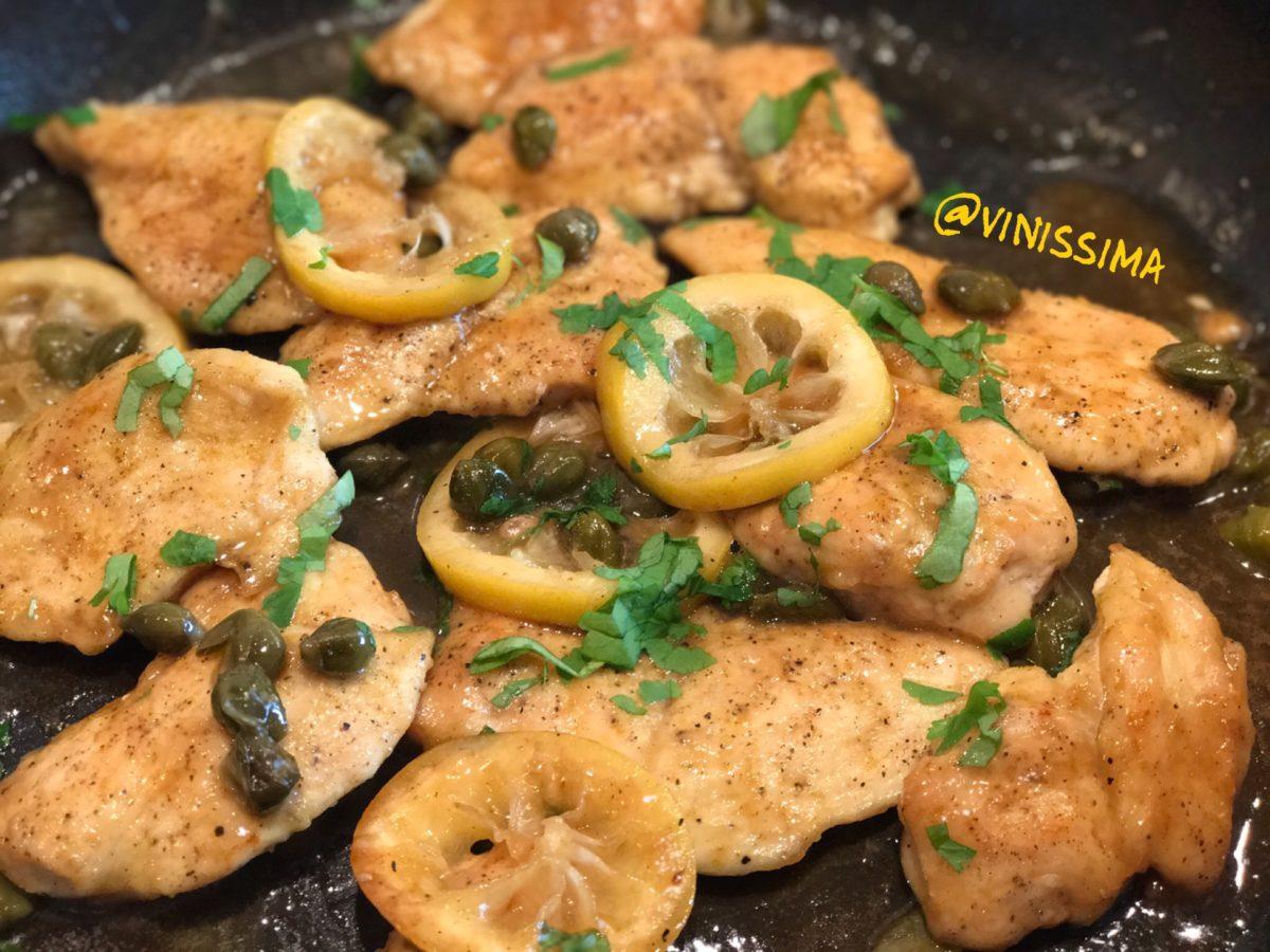 kip met citroen en kappertjes