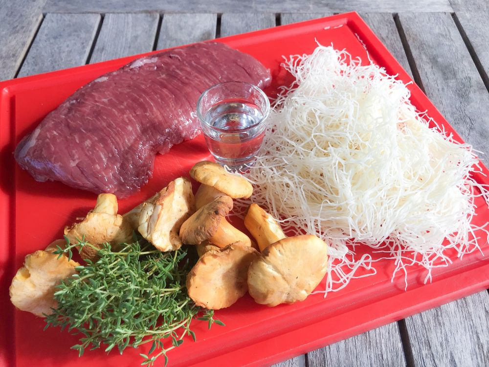ingrediënten bavette in kataifi-deeg
