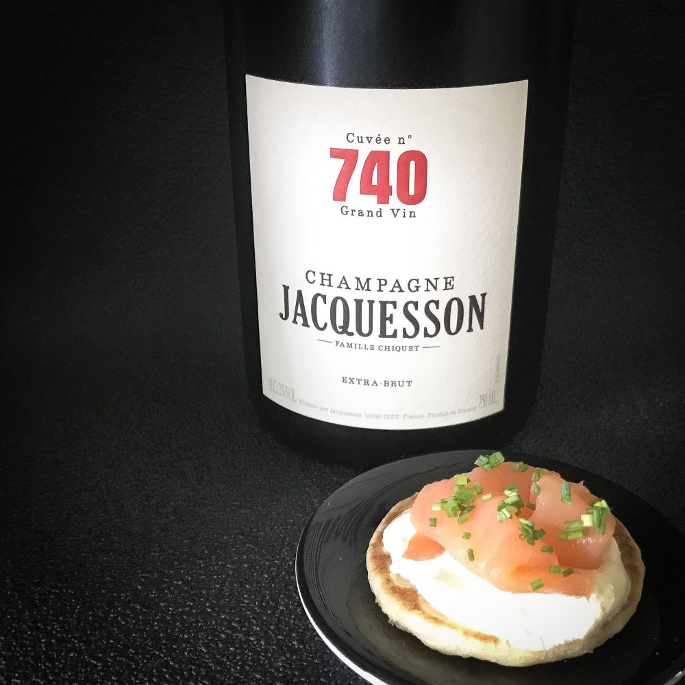 Jacquesson No 740 met blinis