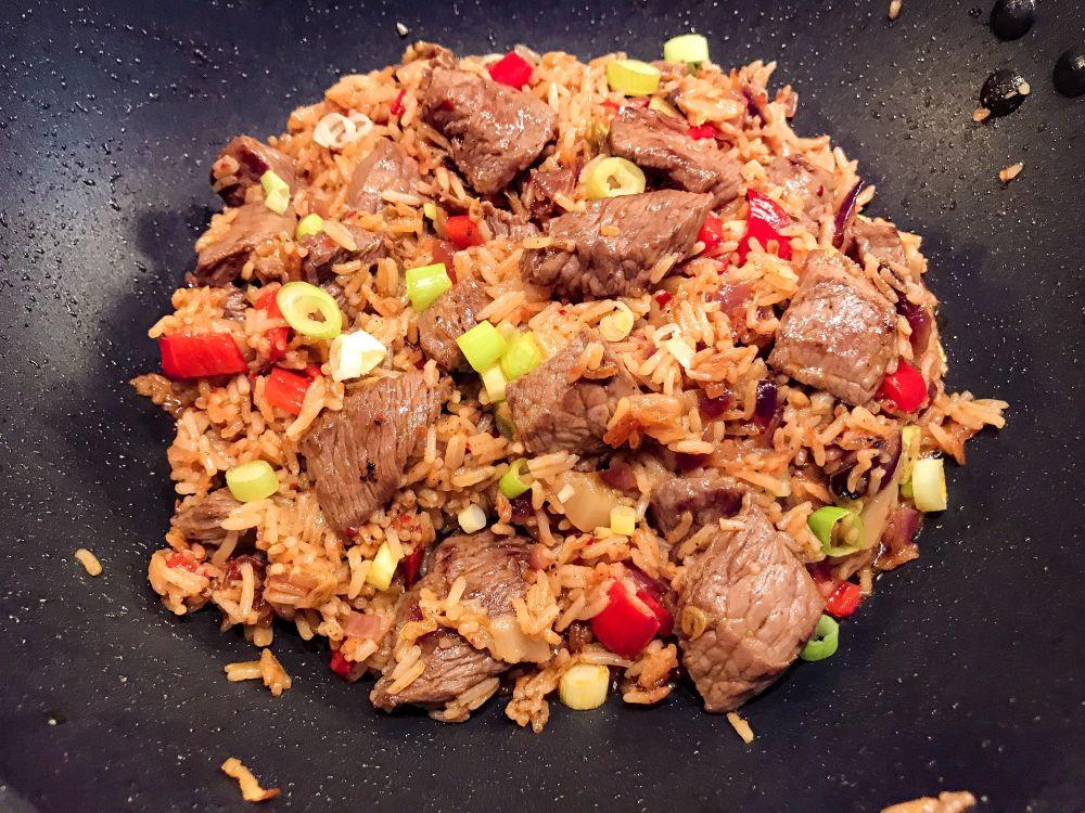 Koreaanse beef met spicy kimchi