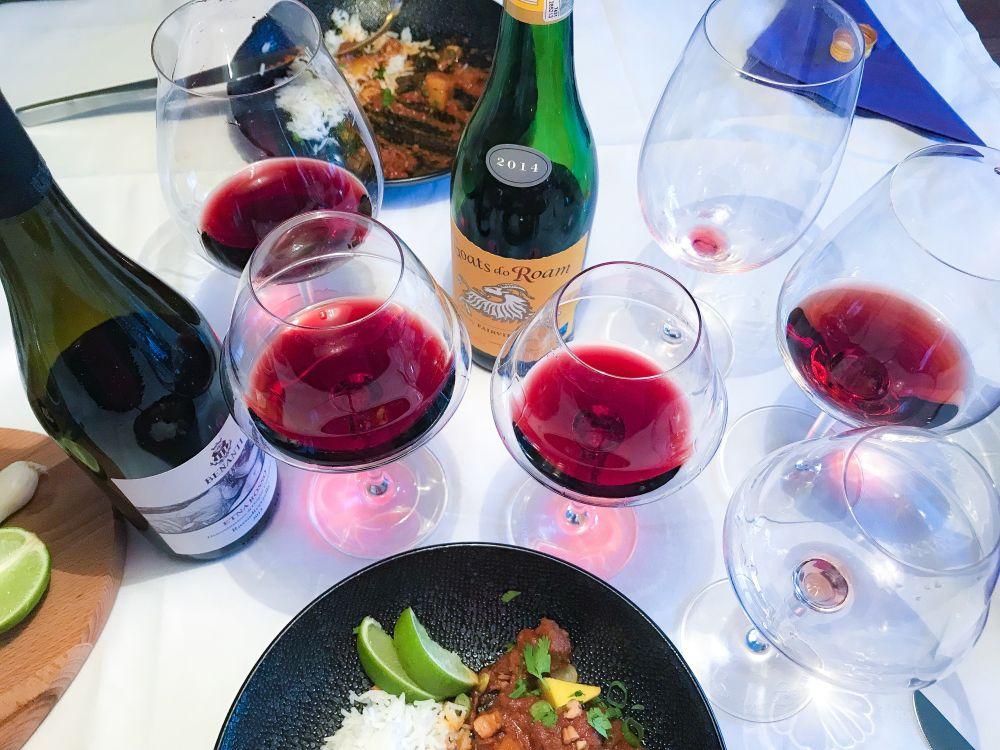 welke wijn bij lamscurry