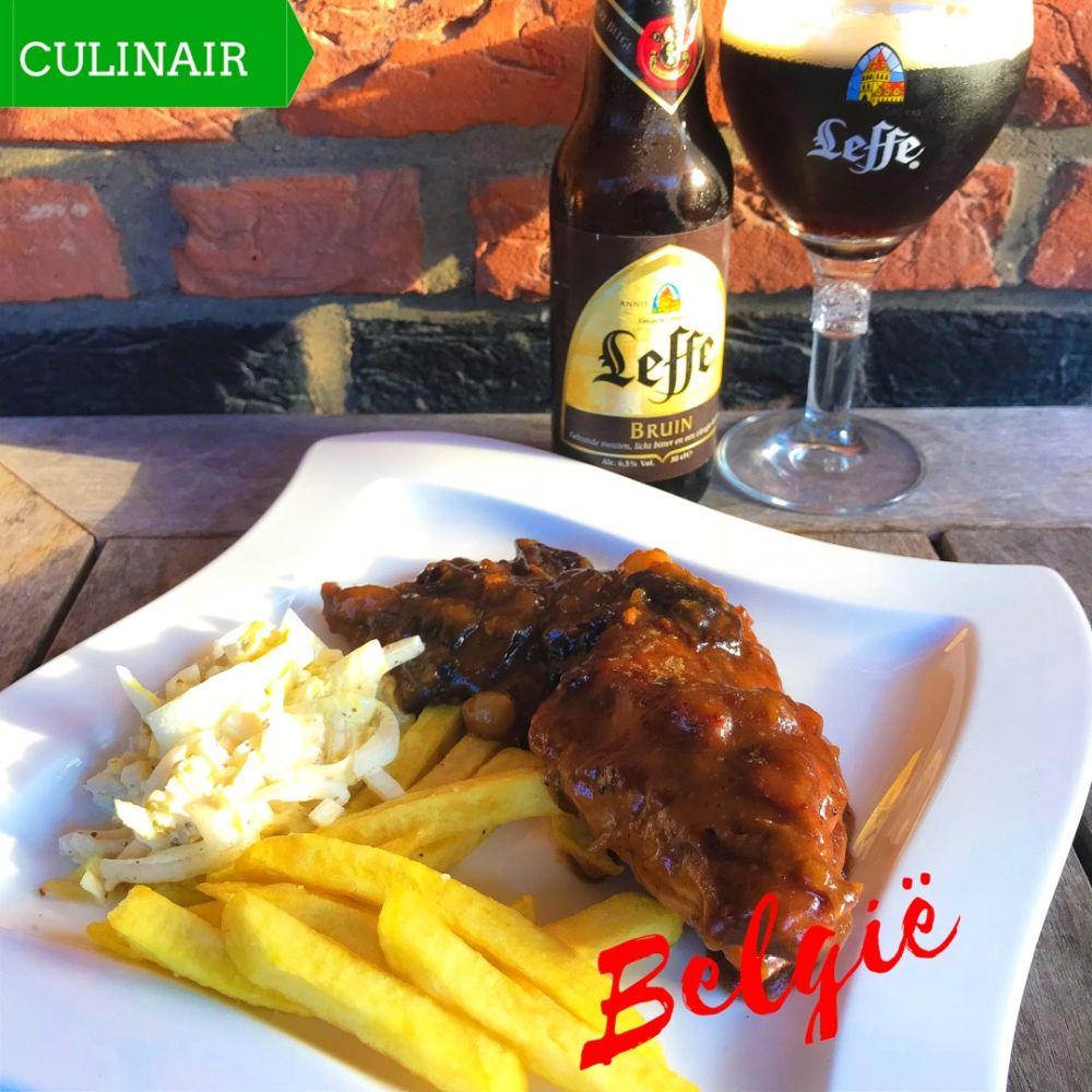 Vlaams konijn met pruimen en bier