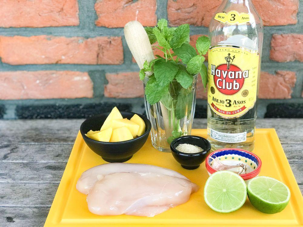 ingrediënten mango mojito kip