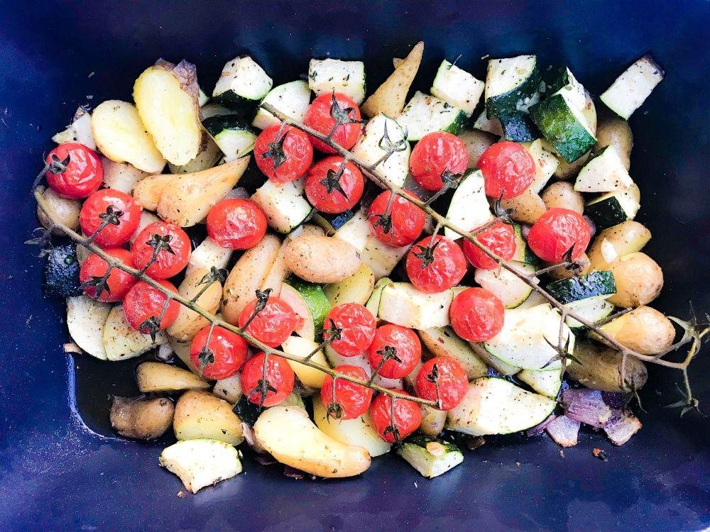 Ovenschotel met courgette, tomaat en aardappel