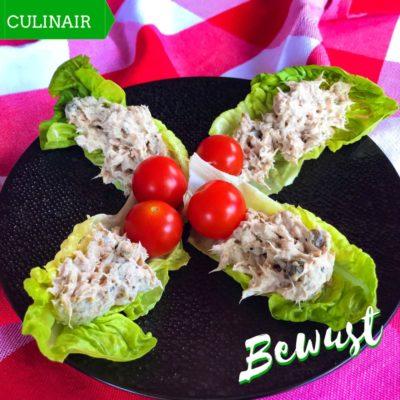 sla wrap met tonijn-kappertjes salade
