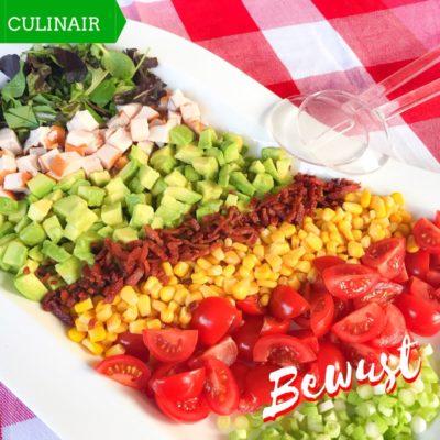 Low Carb salade gerookte kip