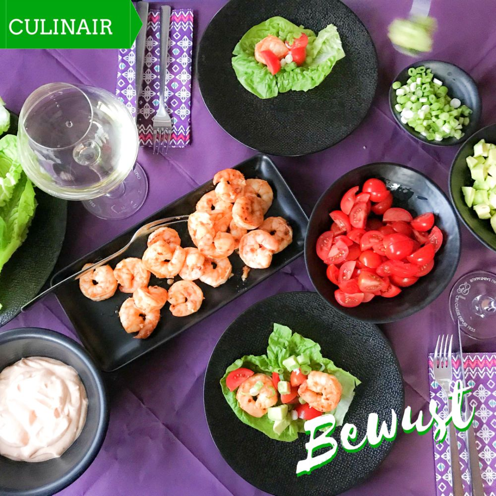Low Carb slawraps met pittige gambas