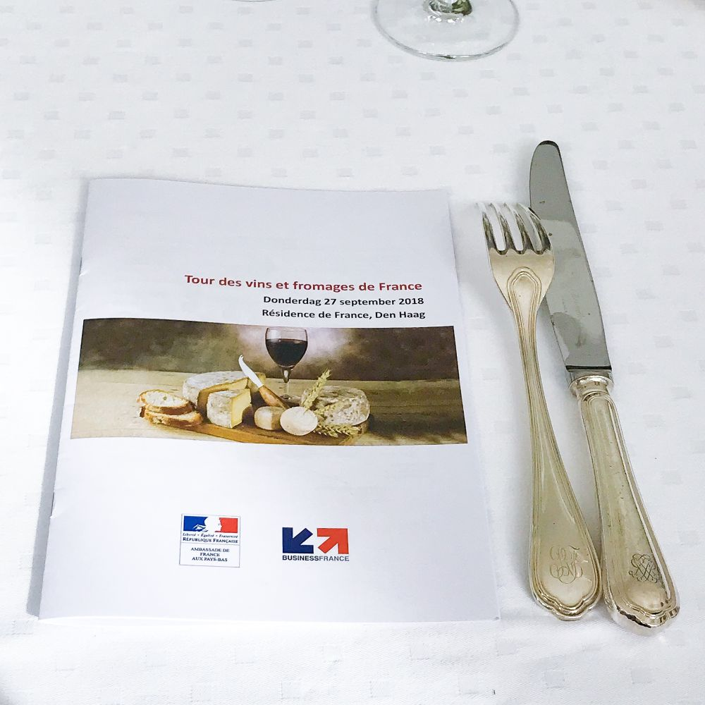 Tour des vins et fromages de France bij de Franse ambassade