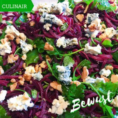 salade rode bietenspaghetti en curly kale