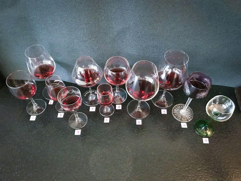 test 11 wijnglazen