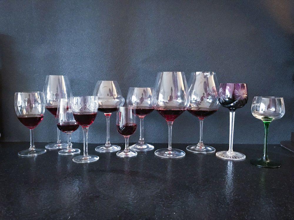 11 verschillende wijnglazen