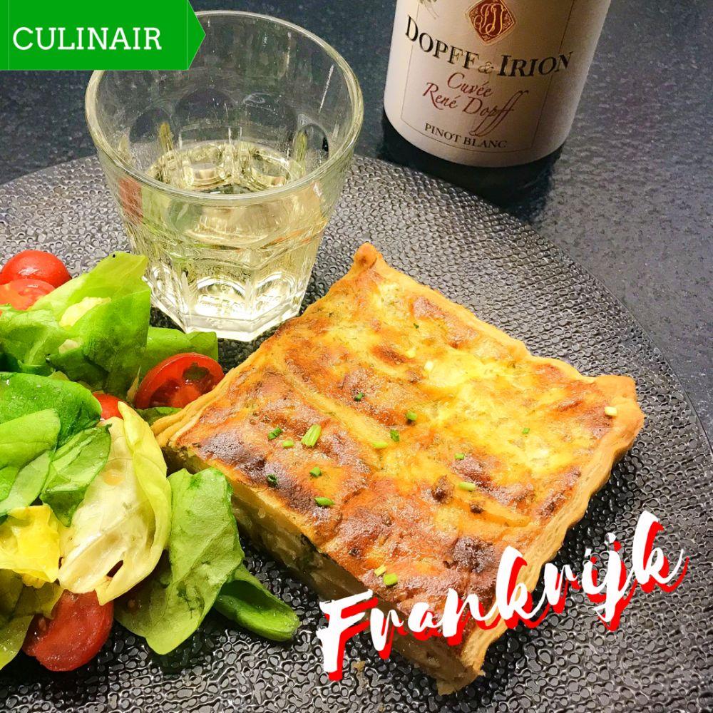 Franse aardappel-uientaart