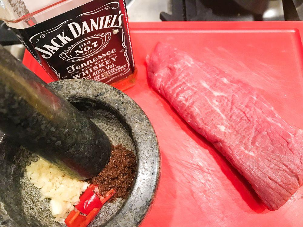 biefstuk met whiskey