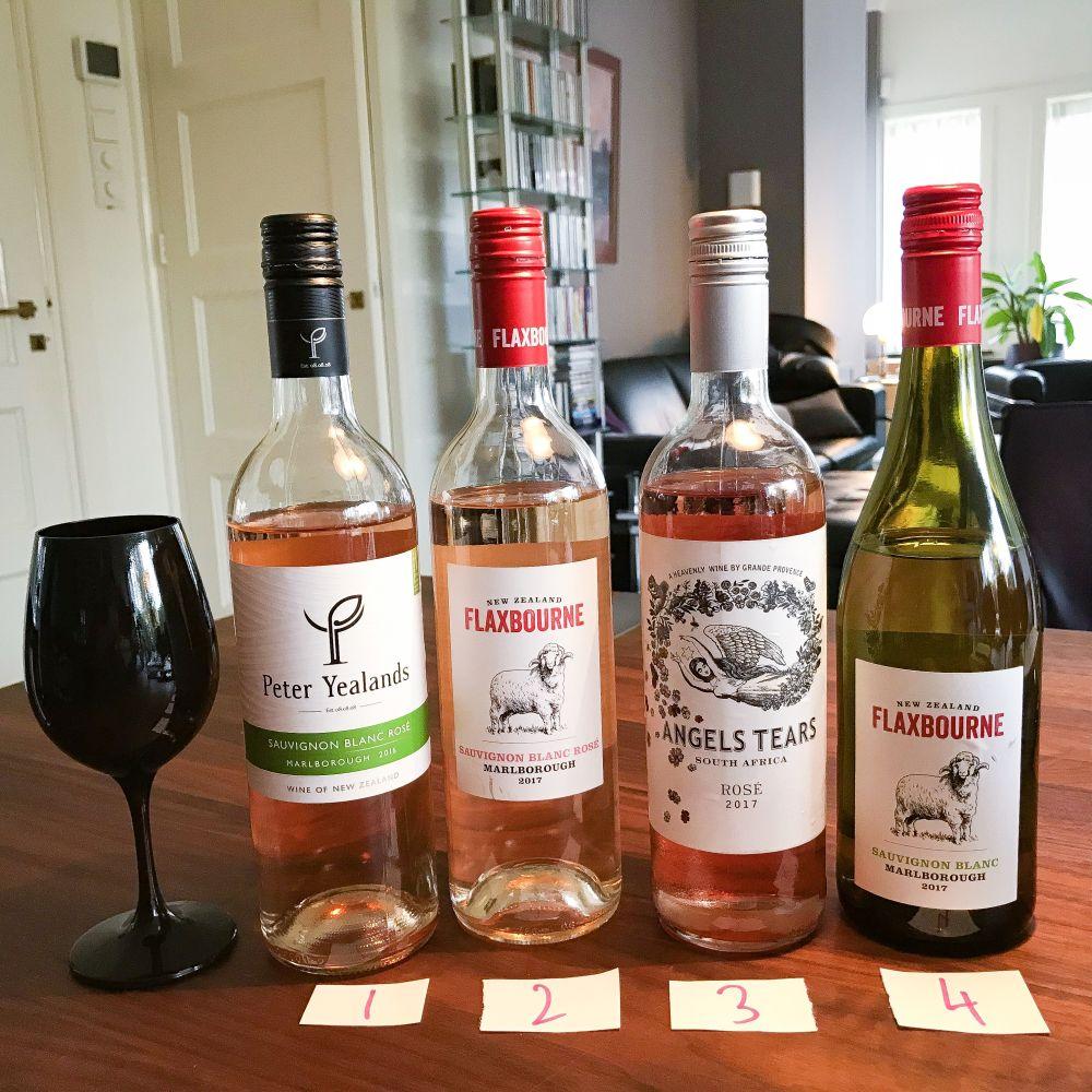 test mengrosé - de wijnen