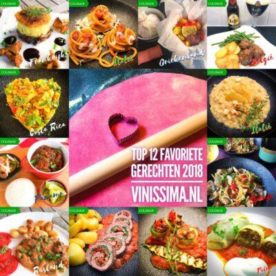 Top 12 favoriete gerechten 2018 op vinissima.nl