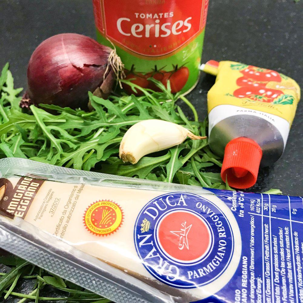 ingrediënten pasta met venkelworst