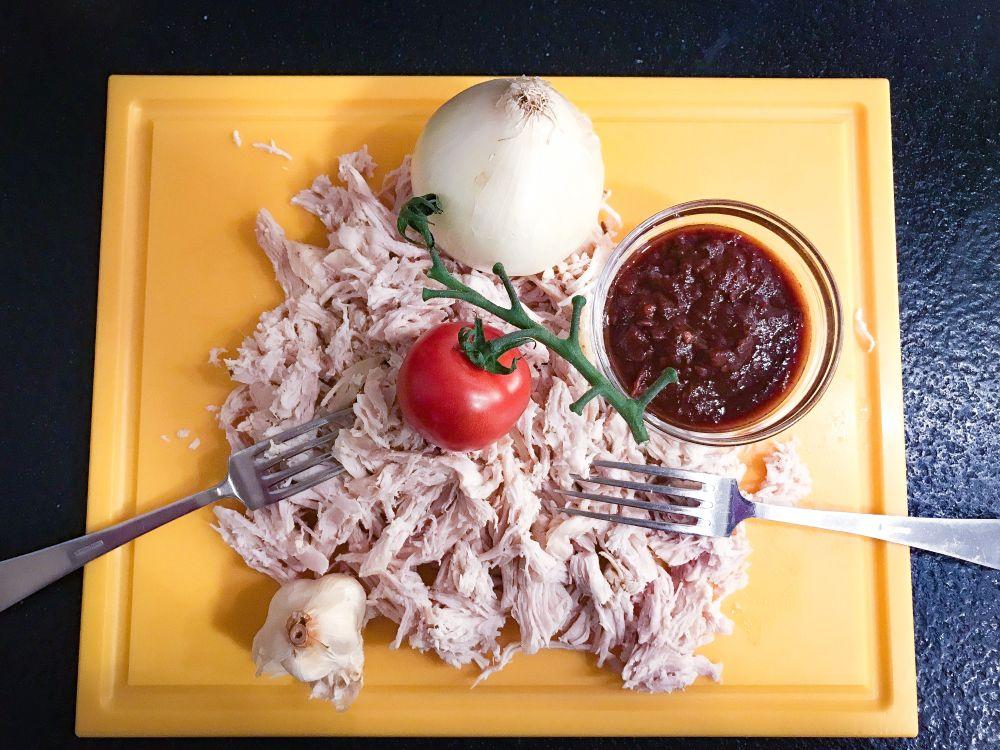 ingrediënten tinga poblana de pollo