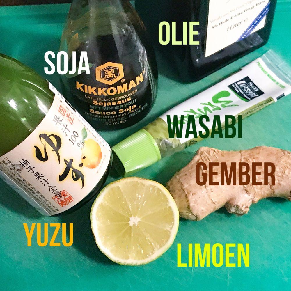 de perfecte gember-yuzu dressing voor tonijntataki