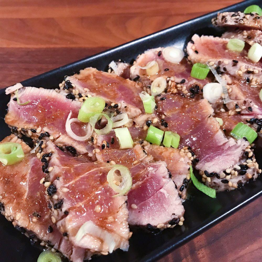tonijntataki met dressing