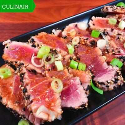 tonijntataki met gember-yuzudressing