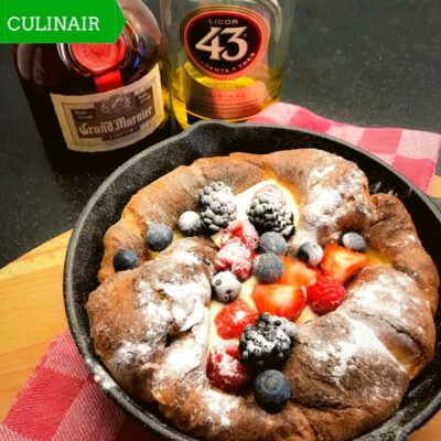 Dutch Baby met rood fruit en Licor 43
