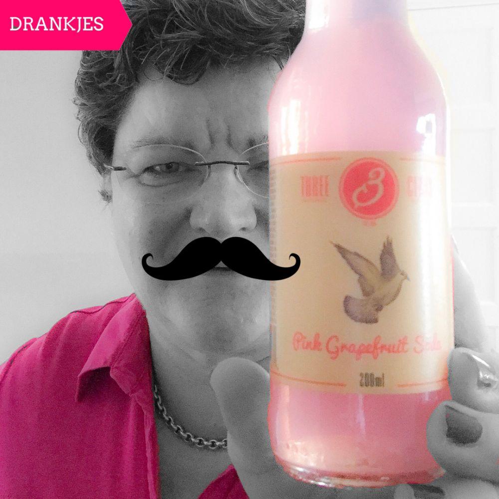 hree Cents Pink Grapefruit soda