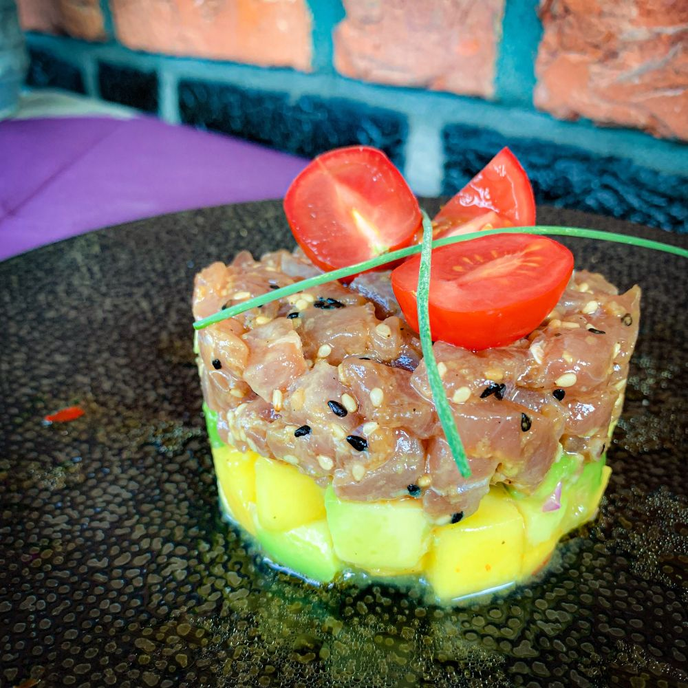 tonijntartaar met mango-avocadosalsa
