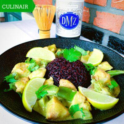 groene kipcurry met matcha