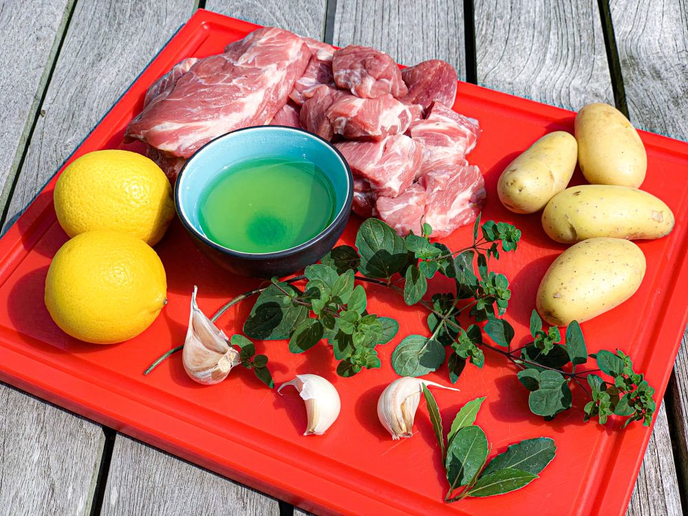 ingrediënten Griekse lamsstoof met citroen en oregano