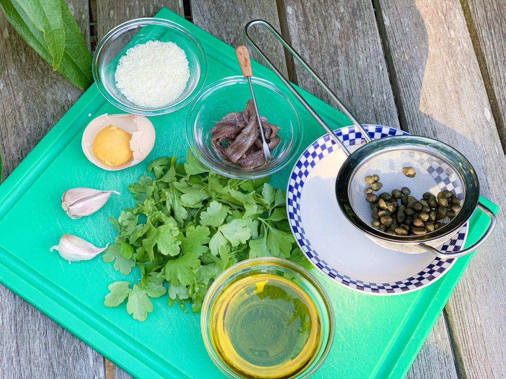 ingrediënten salsa verde alle piemontese