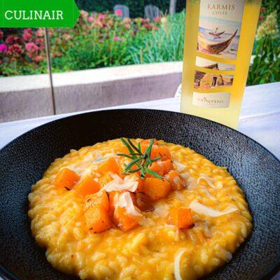 risotto met pompoen en gember