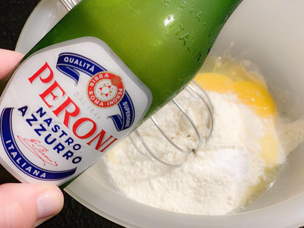 beslag met Peroni bier