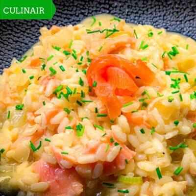 risotto met zalm en venkel