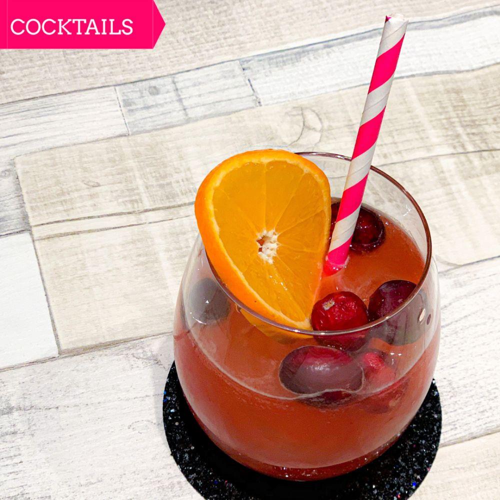 Sunny Cranberry Ginger Mocktail