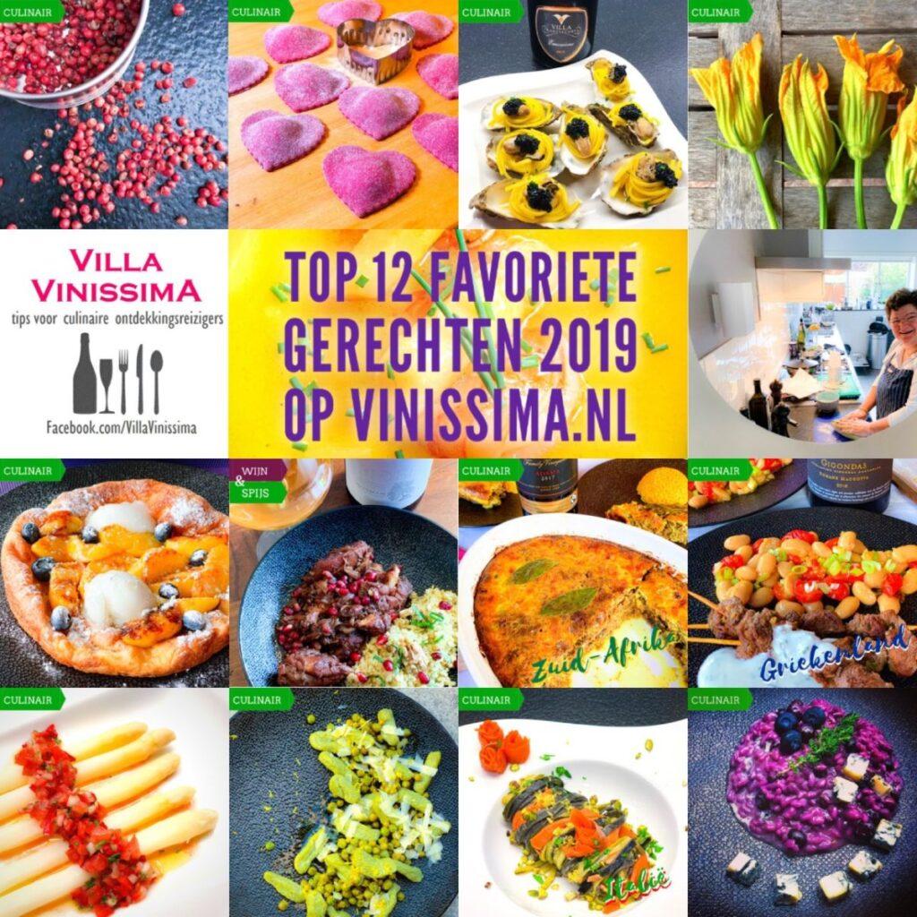 Top 12 favoriete recepten 2019 op vinissima.nl