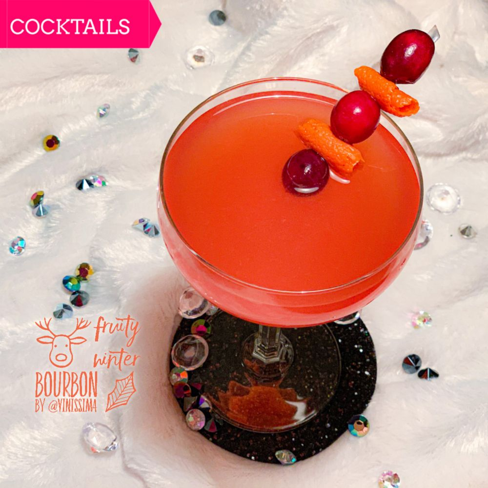 Wintercocktail - Fruity Winter Bourbon