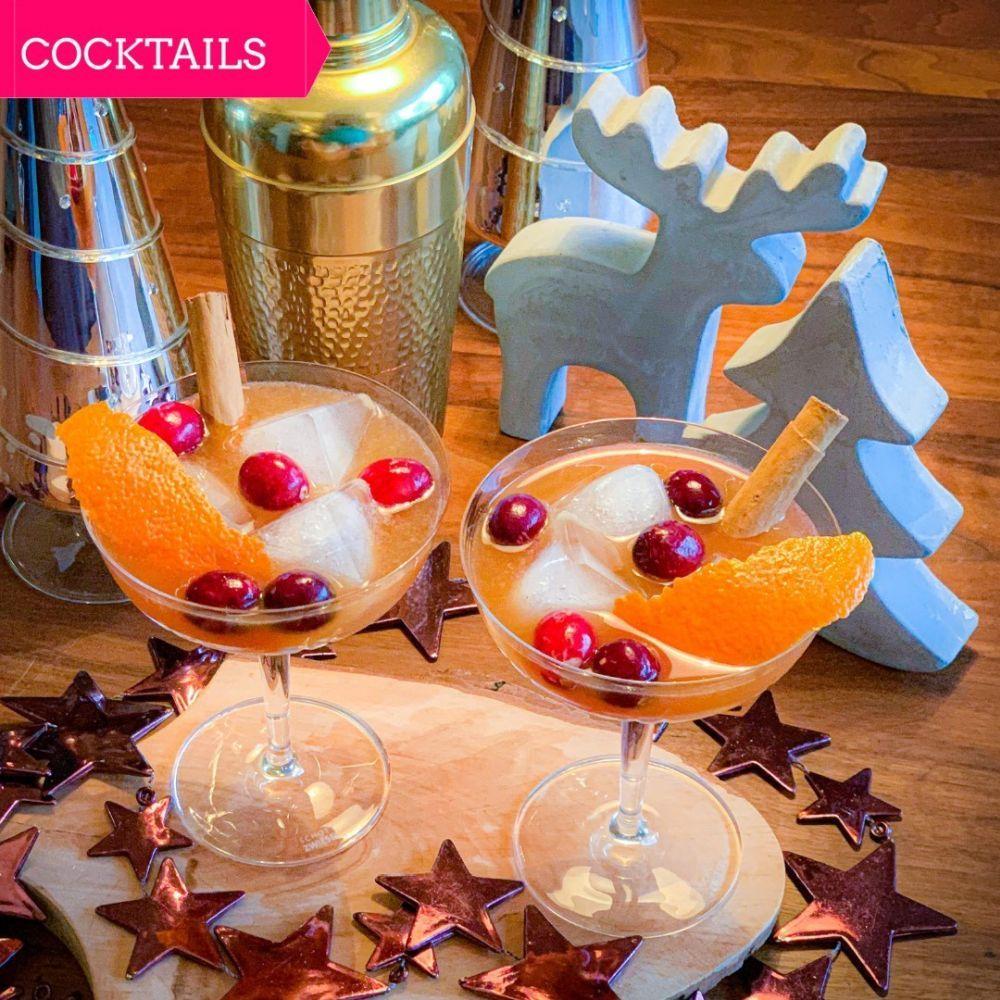 Wintercocktail - Spicy cranberry rum