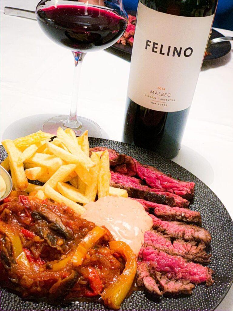 Felino van Viña Cobis bij Mexikaanse steak