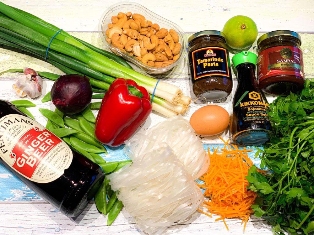 ingrediënten vegetarische Pad Thai