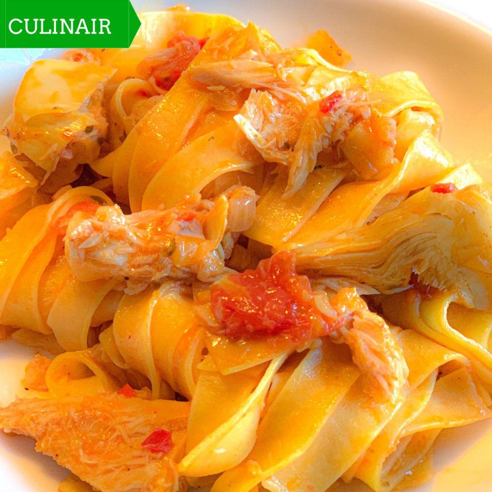 pasta met pittige tonijn artisjok en kerstomaatjes