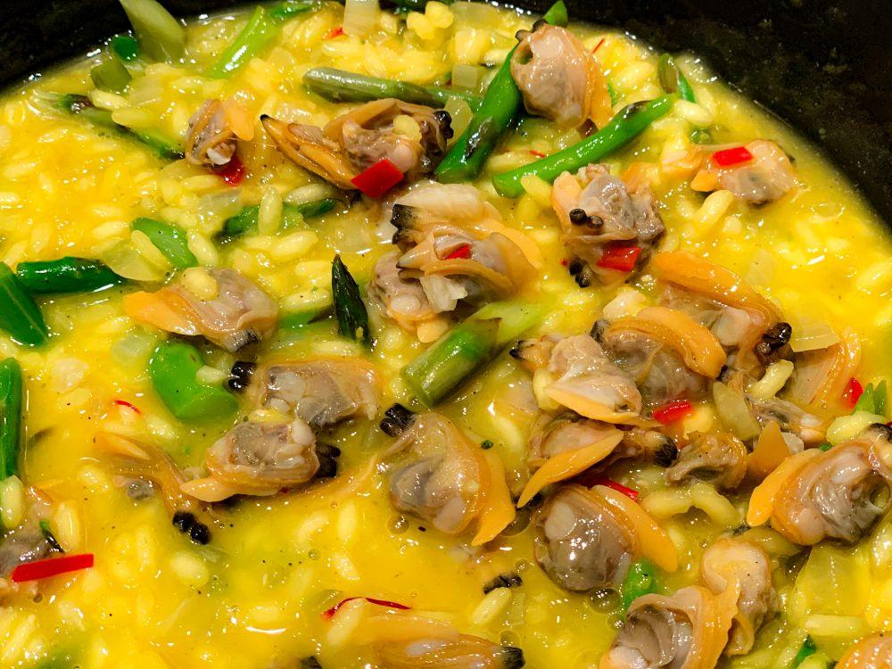 risotto met venusschelpen