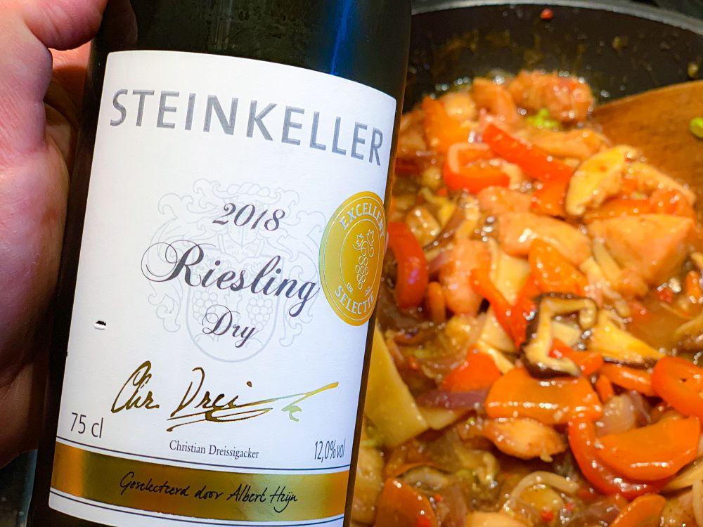 2018 riesling dry van Steinkeller uit Rheinhessen