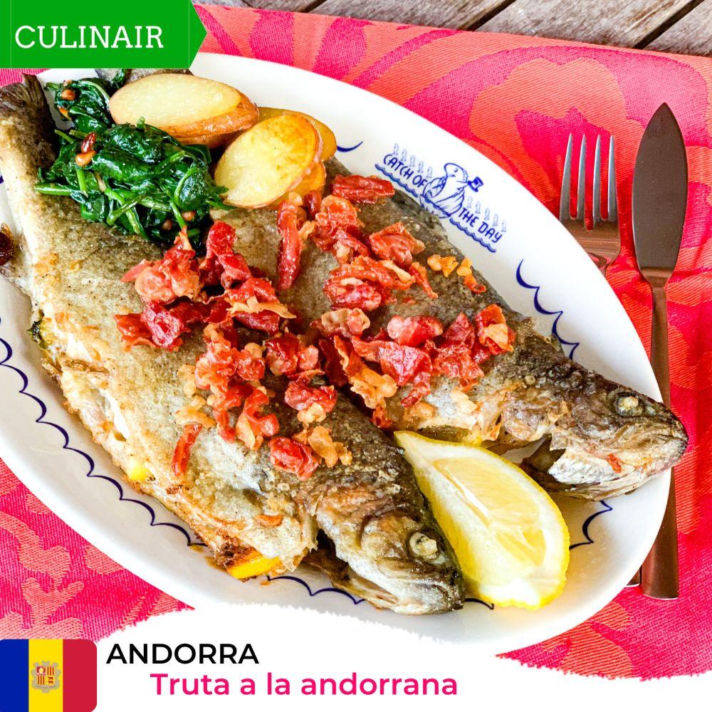 Andorra - forel en spinazie
