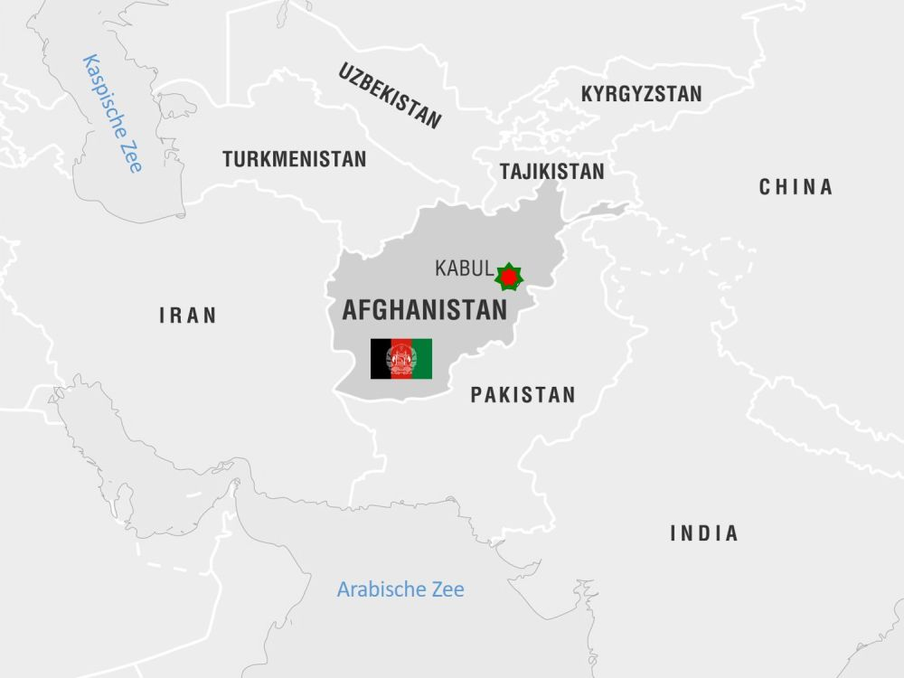 Kaart Afghanistan