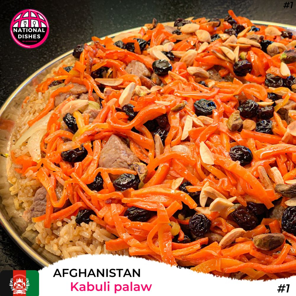 NationalDishes - Afghanistan - Kabuli Palaw