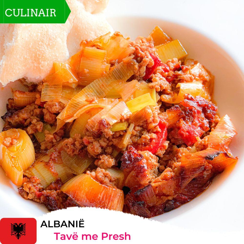Tavë me Presh – Albanese prei-gehaktschotel