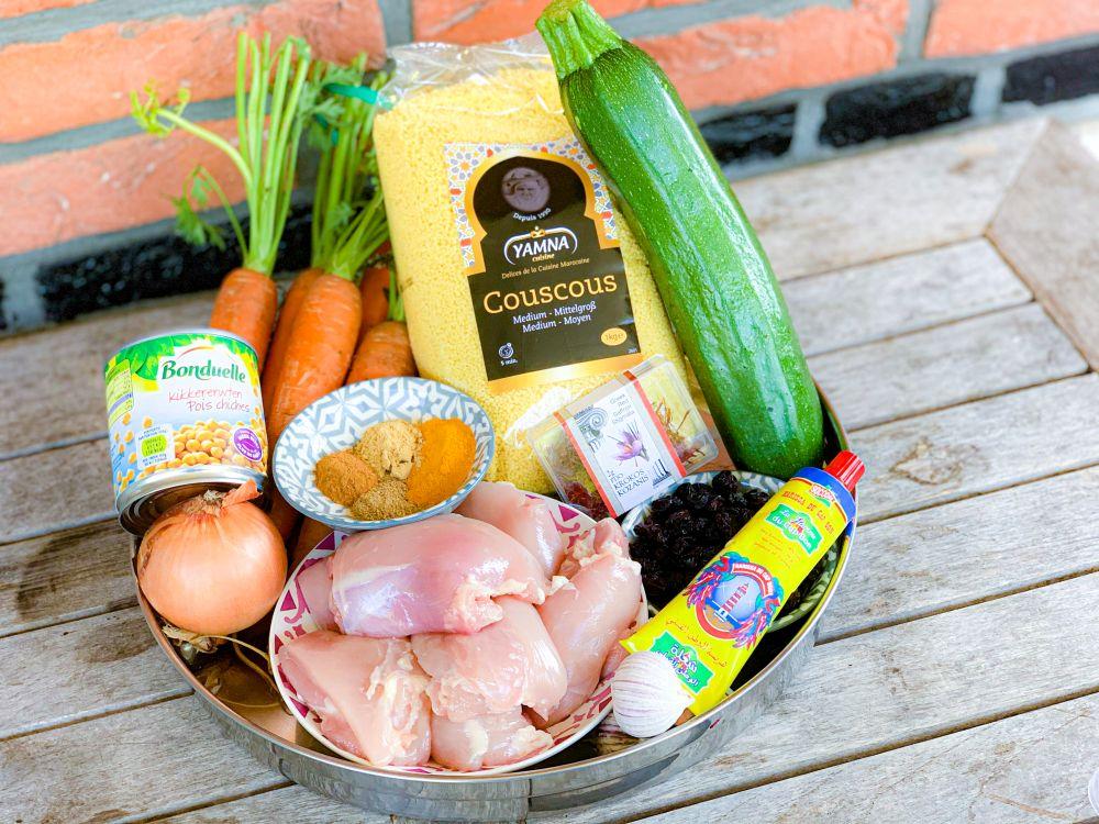 ingrediënten Algerijnse couscous