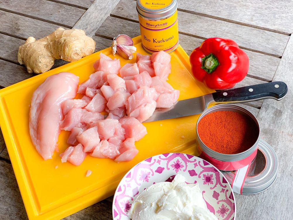 ingrediënten Kebab e Murgh